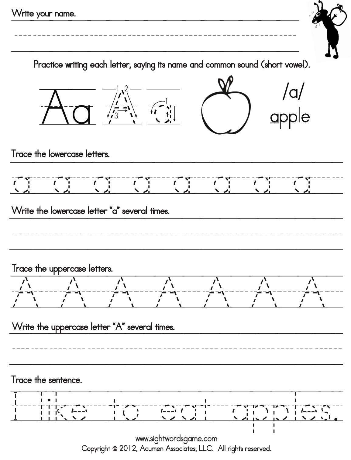Abc Writing Worksheet Round Up The Bean The Belle